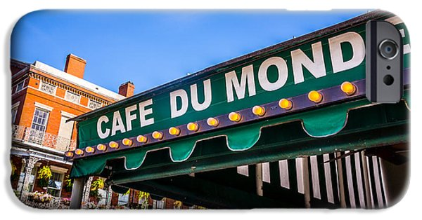 Louisiana Photographs iPhone Cases - Cafe Du Monde Picture in New Orleans Louisiana iPhone Case by Paul Velgos