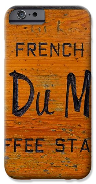 Cafe Du Monde Sign in New Orleans Louisiana iPhone Case by Paul Velgos