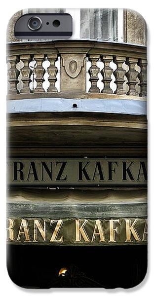 Cafe Franz Kafka iPhone Case by John Rizzuto