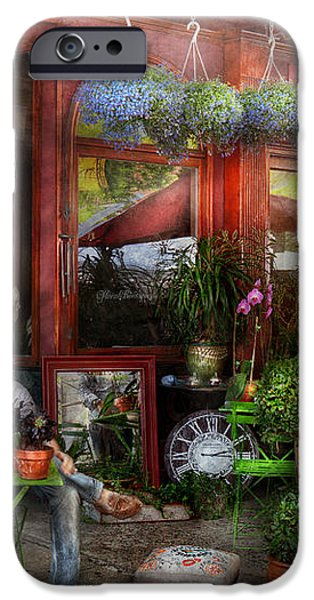 Cafe - Hoboken NJ - A day out  iPhone Case by Mike Savad