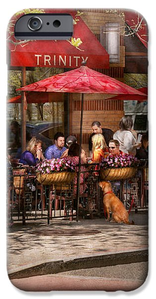 Cafe - Hoboken NJ - Cafe Trinity  iPhone Case by Mike Savad