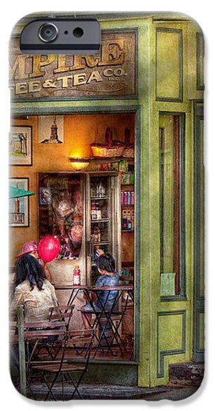 Cafe - Hoboken NJ - Empire Coffee and Tea iPhone Case by Mike Savad