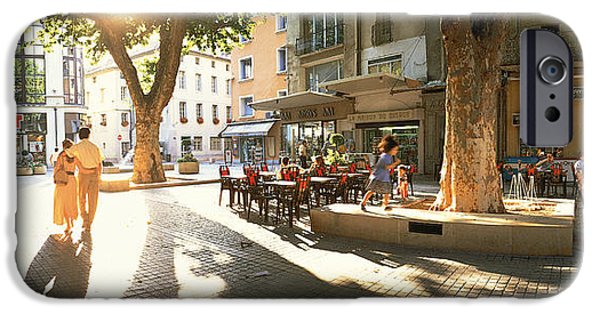 Pleasure iPhone Cases - Cafe, Orange, Provence France iPhone Case by Panoramic Images