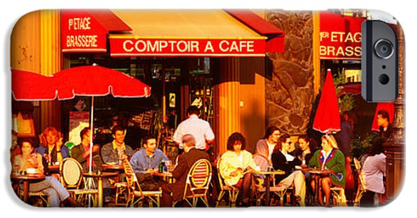 Coffee Drinking iPhone Cases - Cafe, Paris, France iPhone Case by Panoramic Images