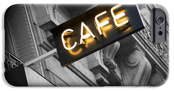 Recently Sold -  - Built Structure iPhone Cases - Cafe sign iPhone Case by Chevy Fleet