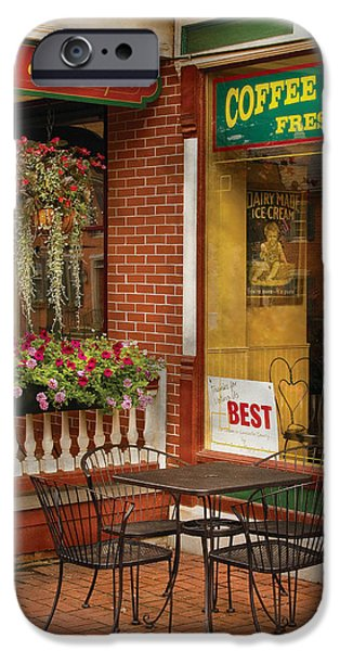 Cafe - The Best ice cream in Lancaster iPhone Case by Mike Savad