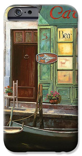 caffe Carlotta iPhone Case by Guido Borelli