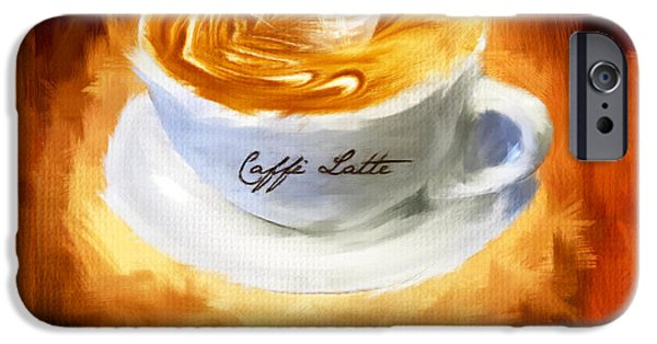 Cafe Au Lait iPhone Cases - Caffe Latte iPhone Case by Lourry Legarde