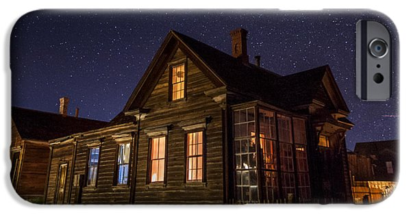 Haunted House iPhone Cases - Cain House at NIght iPhone Case by Cat Connor