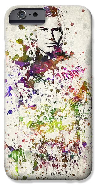 Cain Velasquez iPhone Case by Aged Pixel