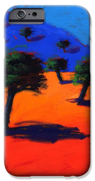 Summer iPhone Cases - Cala Lena, 2007 Acrylic On Board iPhone Case by Paul Powis