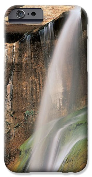Descending iPhone Cases - Calf Creek Falls Ut Usa iPhone Case by Panoramic Images