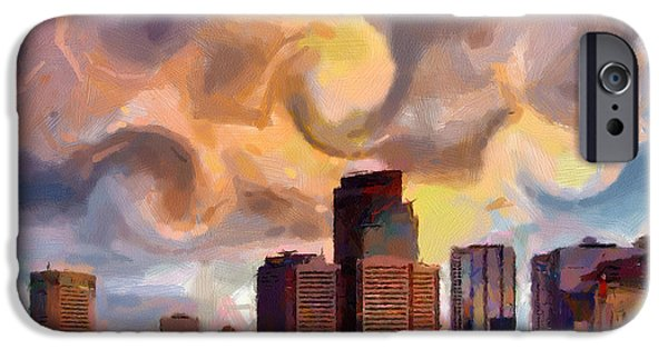 Caruso iPhone Cases - CalgarySkyline iPhone Case by Anthony Caruso