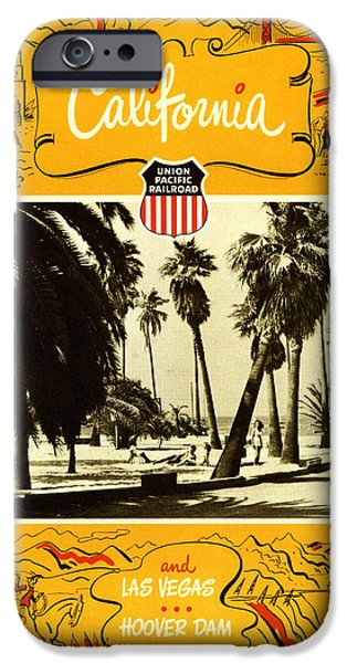 Union Digital Art iPhone Cases - California and Las Vegas iPhone Case by Nomad Art And  Design