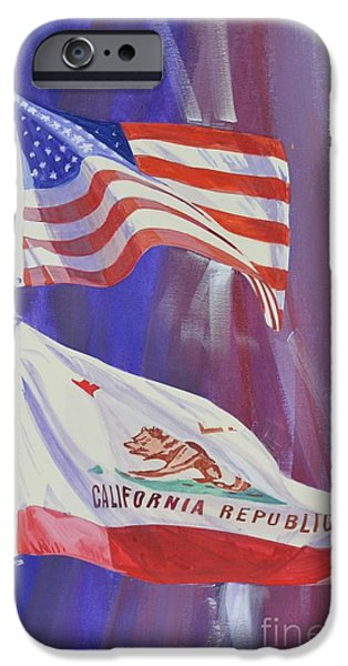 Republican Mixed Media iPhone Cases - California Baby iPhone Case by Marco Ippaso