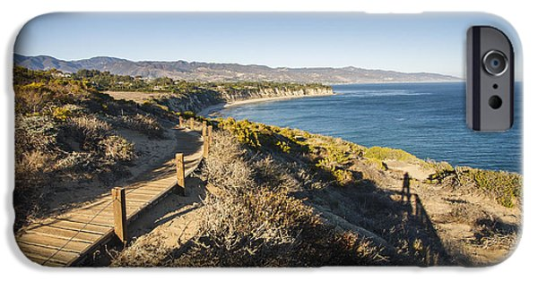 Coastal Places iPhone Cases - California coastline from Point Dume iPhone Case by Adam Romanowicz
