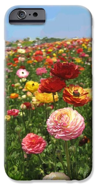 Fed Mixed Media iPhone Cases - California Flowers iPhone Case by Robert Wek