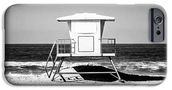 Pacific Ocean Prints iPhone Cases - California Lifeguard Tower Panoramic Picture iPhone Case by Paul Velgos