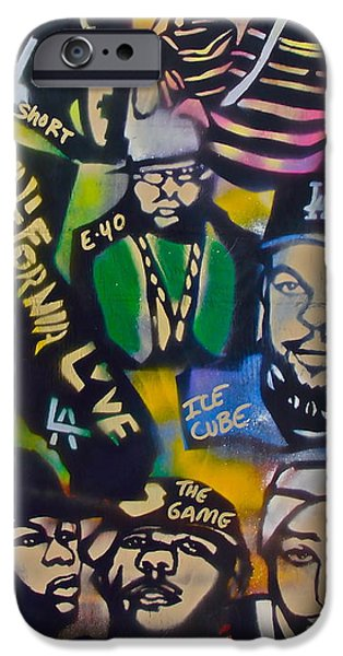 First Amendment Paintings iPhone Cases - California Love iPhone Case by Tony B Conscious