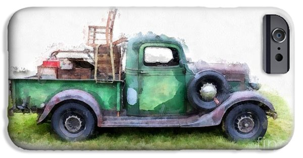 Delivery Truck iPhone Cases - California or Bust II iPhone Case by Edward Fielding
