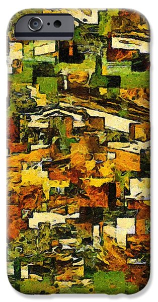 Abstract Forms iPhone Cases - California iPhone Case by RC deWinter