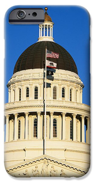 Historic Site iPhone Cases - California State Capitol Building iPhone Case by Panoramic Images