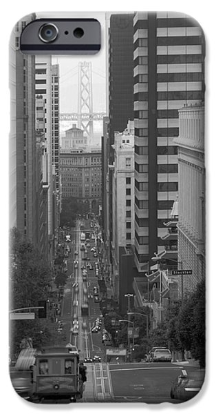 Alcatraz iPhone Cases - California Street San Francisco Streetcar iPhone Case by Silvio Ligutti