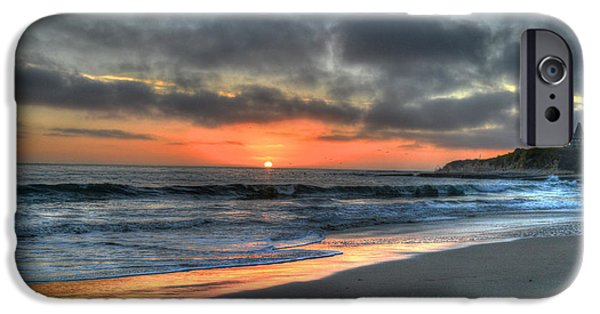 Santa iPhone Cases - California Sunset  iPhone Case by Patricia Dennis