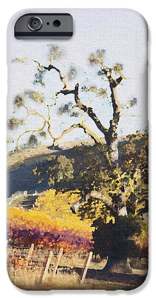 California Vineyard Series Oaks in the Vineyard iPhone Case by Artist and Photographer Laura Wrede