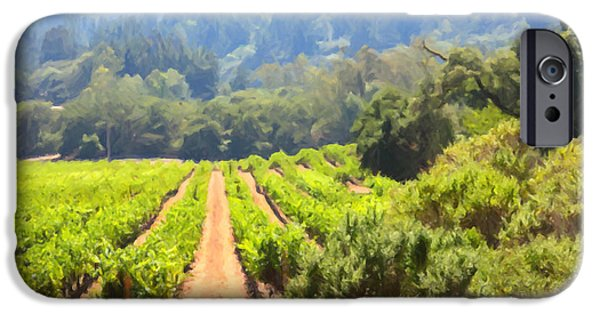 Pastoral Vineyard iPhone Cases - California Vineyard Wine Country 5D24518 iPhone Case by Wingsdomain Art and Photography