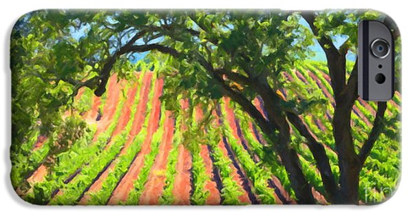 Pastoral Vineyard iPhone Cases - California Vineyard Wine Country 5D24519 long iPhone Case by Wingsdomain Art and Photography