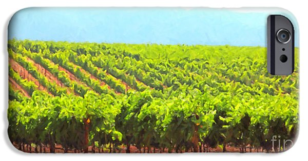 Pastoral Vineyard iPhone Cases - California Vineyard Wine Country 5D24623 long iPhone Case by Wingsdomain Art and Photography