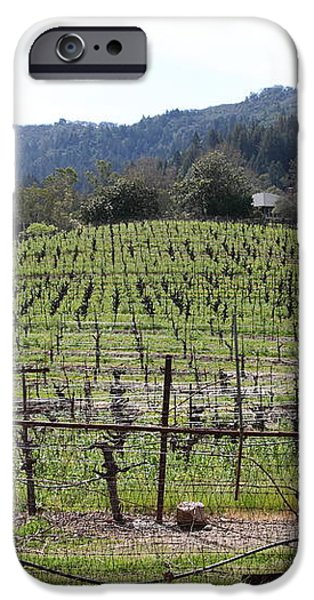 California Vineyards In Late Winter Just Before The Bloom 5D22088 iPhone Case by Wingsdomain Art and Photography