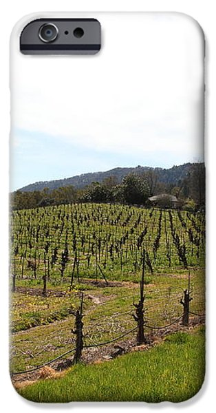 California Vineyards In Late Winter Just Before The Bloom 5D22114 iPhone Case by Wingsdomain Art and Photography