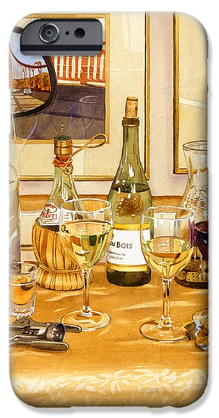 California Wine and Watercolors iPhone Case by Mary Helmreich