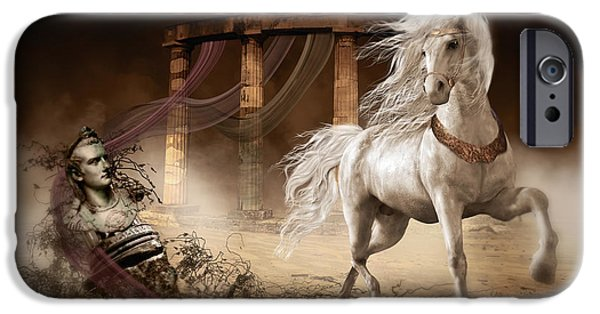 Royalty iPhone Cases - Caligulas Horse iPhone Case by Shanina Conway