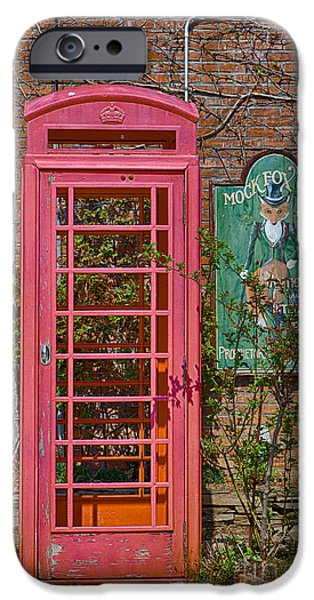 Kaypickens.com iPhone Cases - Call Me - Abandoned Phone Booth iPhone Case by Kay Pickens