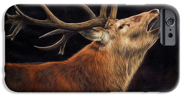 David iPhone Cases - Call of the Wild iPhone Case by David Stribbling
