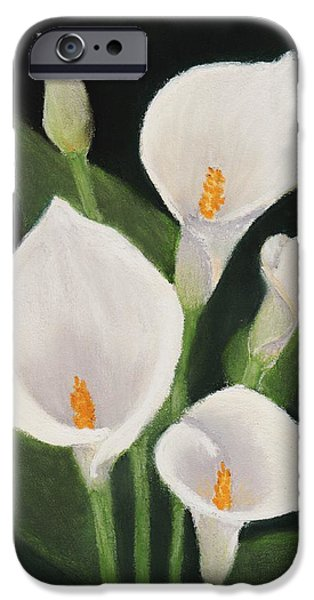 Flora Pastels iPhone Cases - Calla Lilies iPhone Case by Anastasiya Malakhova