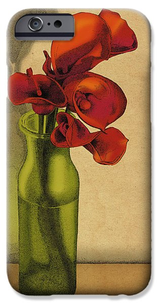 Calla Lilly iPhone Cases - Calla Lilies in Bloom iPhone Case by Meg Shearer