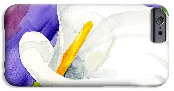 Calla Lilly iPhone Cases - Calla Lily Close Up iPhone Case by Annie Troe