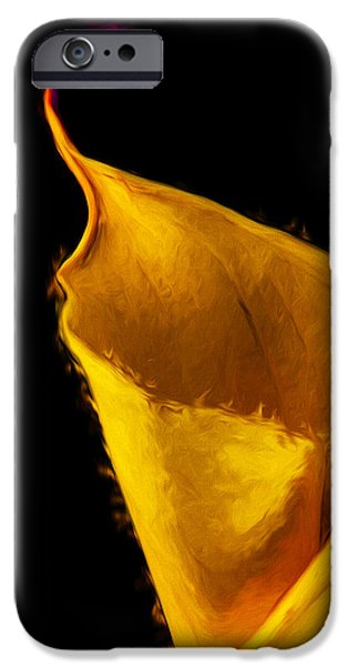 Painter Photographs iPhone Cases - Calla Lily Flower Painted Digitally iPhone Case by David Haskett