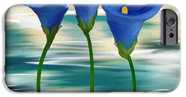 Trio iPhone Cases - Calla Trio- Calla Lily Paintings iPhone Case by Lourry Legarde