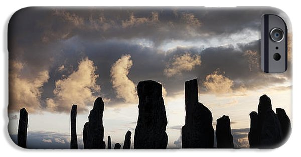 Monolith iPhone Cases - Callanish Standing Stones iPhone Case by Tim Gainey