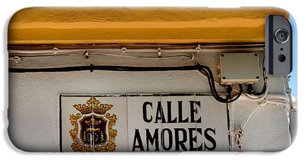 Spanish House iPhone Cases - Calle Amores. Streets of Ronda. Spain iPhone Case by Jenny Rainbow