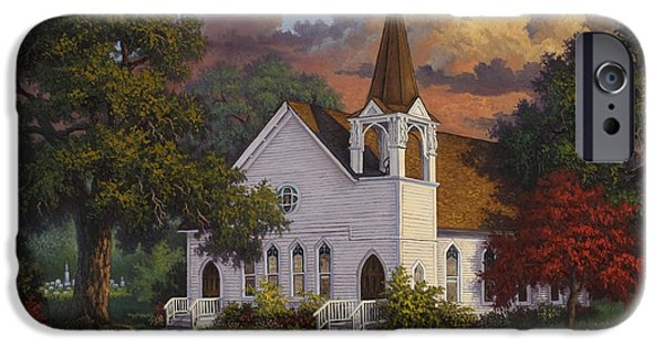 Cemetery Paintings iPhone Cases - Called To Praise iPhone Case by Kyle Wood