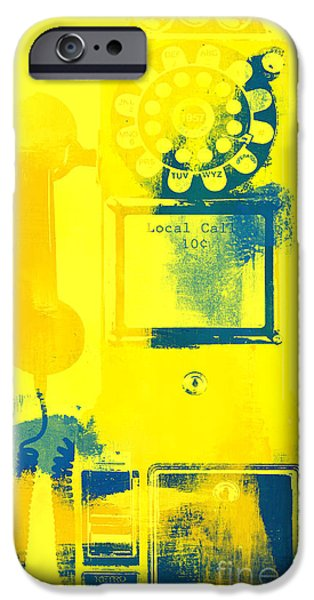 Surtex Licensing iPhone Cases - Calling Warhol - Vintage Telephone Pop iPhone Case by Anahi DeCanio