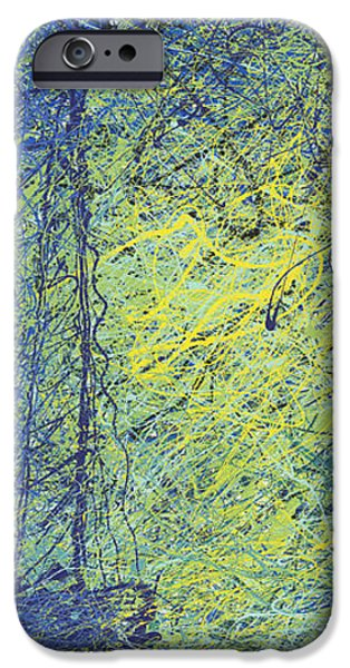 Abstract Expressionist iPhone Cases - Calm iPhone Case by Ash Hussein