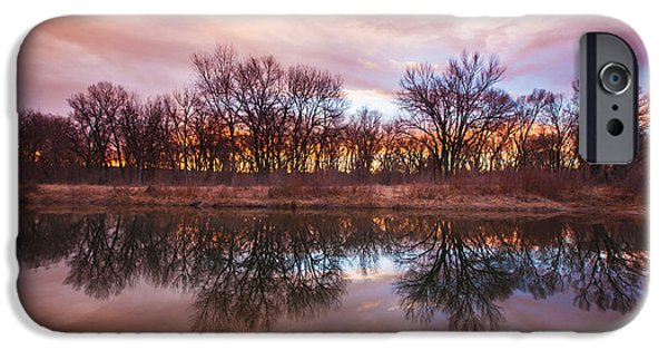 Reflection Lake iPhone Cases - Calm Before The Storm iPhone Case by Darren  White