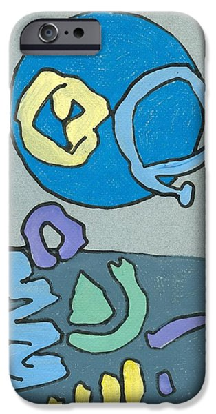 Moonscape Drawings iPhone Cases - Calm iPhone Case by Ralf Schulze